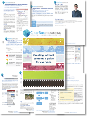 Page thumbnails of Creatiing Intranet Content: a guide