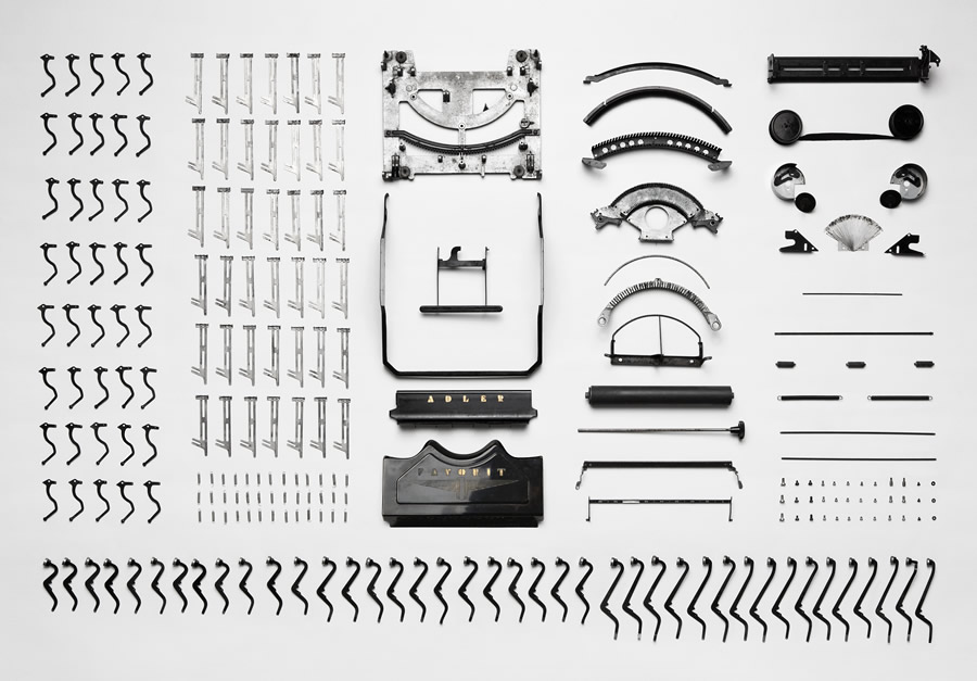 Deconstructed typewriter