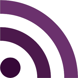 Purple RSS icon