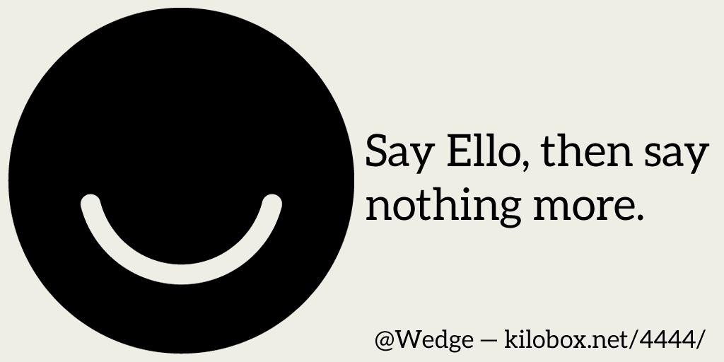 Say Ello
